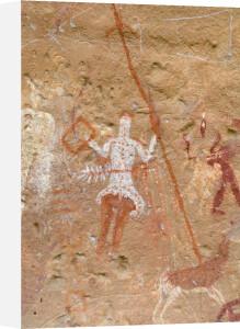 Prehistoric rock paintings, Akakus, Sahara desert, Fezzan, Libya (4) by Sergio Pitamitz