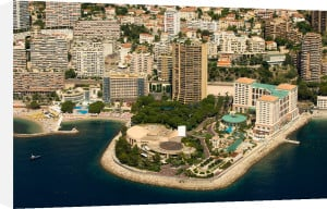 Montecarlo Bay Hotel and Sporting Club Casino from the air, Cote d'Azur, Monaco by Sergio Pitamitz