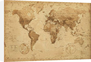 World Map - Antique Style by Anonymous