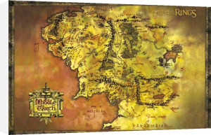 Lord of the Rings - Classic Map by Anonymous