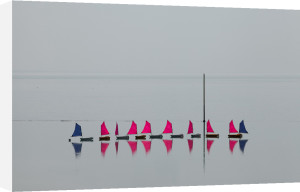Sailing school at Granville I by Jean Guichard