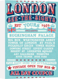 London Tours '54 by The Vintage Collection