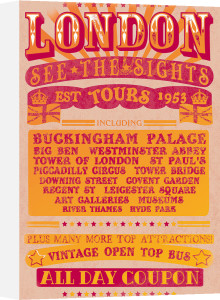 London Tours '53 by The Vintage Collection