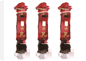Post Box Trio by Bridget Davies