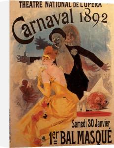 Carnival - Theatre de L'Opera, Paris 1892 by Jules Cheret