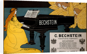 Bechstein Pianos, 1898 by Louis Rhead