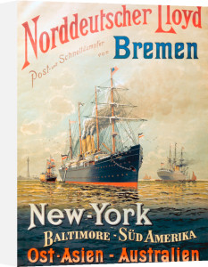 Norddeutscher Lloyd Shipping, 1900 by Anonymous