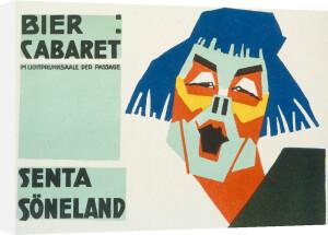 Bier Cabaret - Senta Sorel, 1919 by Jo Steiner