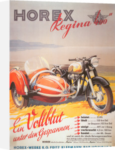 Horex Regina Motorcycle and Sidecar, 1955 by Anonymous