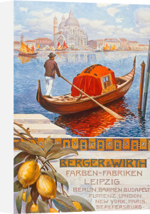 Venetian Gondola, 1909 by Anonymous