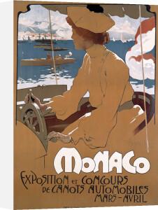 Monaco Motorboat Exhibition, 1900 by Adolfo Hohenstein