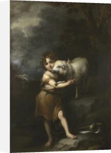 The Infant Saint John with the Lamb by Bartolomé Esteban Murillo