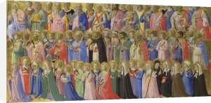 The Forerunners of Christ with Saints and Martyrs: Inner Right Predella Panel by Fra Angelico