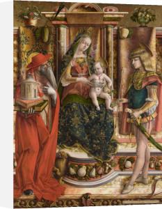 La Madonna della Rondine (The Madonna of the Swallow) by Carlo Crivelli