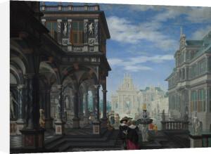 An Architectural Fantasy by Dirck van Delen