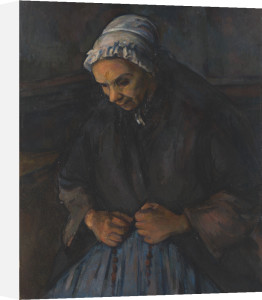An Old Woman with a Rosary by Paul Cezanne