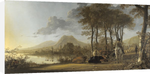 River Landscape with Horseman and Peasants by Aelbert Cuyp