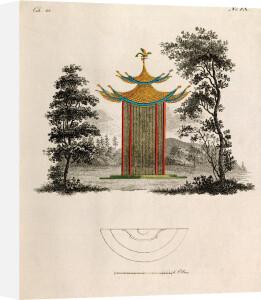 Oriental Pagoda and Plan by Johann Gottfried Grohmann