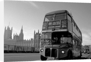 Routemaster bus farewell, Westminster Bridge by Niki Gorick