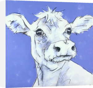 Cow on Lilac by Nicola King