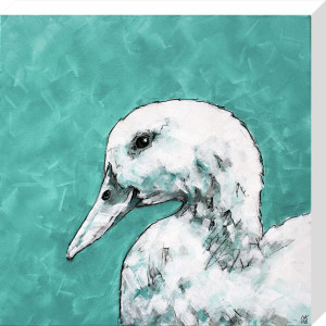Duck on Green by Nicola King