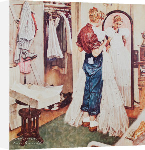 The Prom Dress by Norman Rockwell
