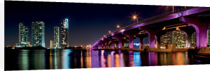 Miami Skyline along the MacArthur Causeway Bridge by Fotoluminate