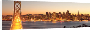 Bay Bridge at Twilight, San Francisco by Somchaij
