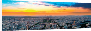 Panorama of Paris with the Eiffel Tower by Europhotos