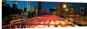 Brooklyn Bridge Traffic at Dusk by Dibrova