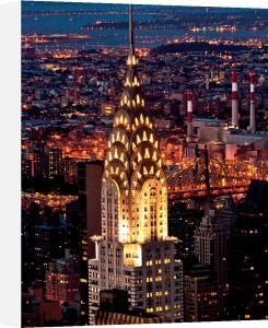 Chrysler Building at Night by Jorg Hackemann