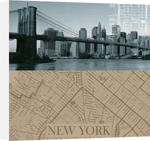NYC Map I by The Vintage Collection