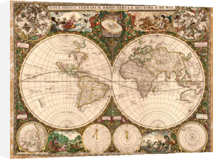World Map, 1660 by Ward Maps
