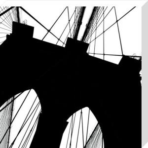 Brooklyn Bridge Silhouette (detail) by Erin Clark