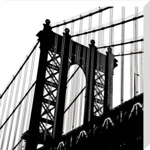 Manhattan Bridge Silhouette (detail) by Erin Clark