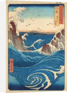 Rough Sea at Naruto in Awa Province by Utagawa Hiroshige