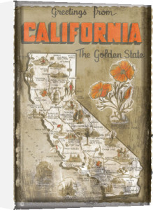 Greetings from California by Vintage Vacation