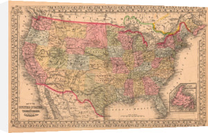 Map of the United States, 1867 by Ward Maps
