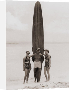 Tom with Kalahuewehe, 1937 by Tom Blake