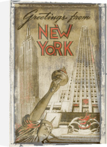 Greetings from New York by Vintage Vacation