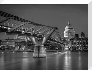 Millennium Bridge and St Paul's by Assaf Frank
