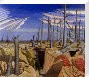 Oppy Wood, 1917 - Evening by John Nash
