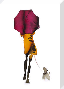 What to Wear When Walking the Dogs - Umbrella by Bridget Davies