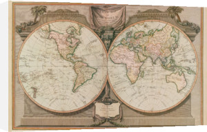 New Map of the World by Vintage Reproduction