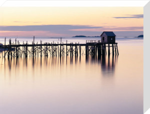 Old Wharf at Dawn by Paul Rezendes
