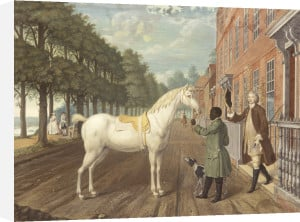 A Gentleman with his Horse and Groom, Richmond Hill, 1749 by August von Heckel