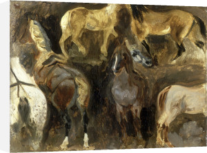 Study of Horses, c.1822-1824 by Eugene Delacroix