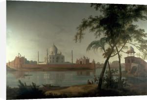 The Taj Mahal at Agra, from across the River Jumna by Thomas Daniell