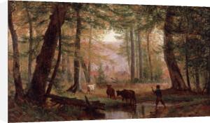 Crossing the Stream, 1867 by Thomas Worthington Whittredge