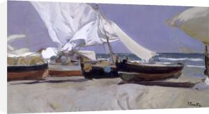 Sails, Valencia Beach, 1914 by Joaquin Sorolla y Bastida